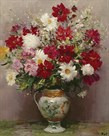 Dahlias Dans Un Pot Empire by Marcel Dyf