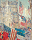 Allies Day, May 1917 by Frederick Childe Hassam