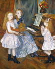 The Daughters of Catulle Mendes, Huguette, Claudine, and Helyonne by Pierre Auguste Renoir