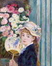 Girl with a Fan, c1879 by Pierre Auguste Renoir