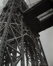 George Washington Bridge, Riverside Drive and 179th Street, Manhattan by Berenice Abbott