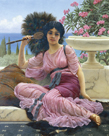 Peacock Fan by John William Godward
