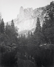 The Sentinel 3270 ft., Yosemite by Carleton E Watkins