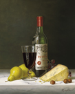 Chateau Petrus with Pears and Cheese by Tania Bello