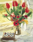 Tulips and Anemones by Richard Akerman
