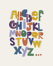 Offset Alphabet by Myriam Tebbakha
