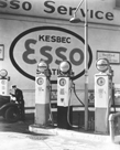Gasoline Station, Manhattan by Berenice Abbott