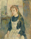 Young Girl with an Apron by Berthe Morisot