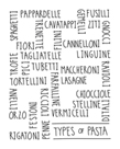 Types of Pasta by Archie Stone