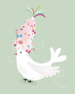 Festive Dove by Clara Wells
