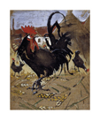 The Black Spanish Cock by Joseph Crawhall