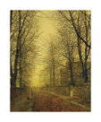 In Autumn's Golden Glow by John Atkinson Grimshaw