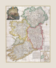 Map of Ireland,1794 by John Rocque