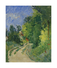 Bend in the Road Through the Forest by Paul Cezanne