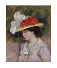 Woman in a Flowered Hat by Pierre Auguste Renoir