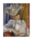 Woman with a Hat by Pierre Auguste Renoir