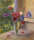 Poppies in a Glass by John Morley