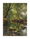 A Woodland Stream by Peder Mork Monsted