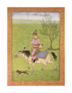 Prince On Horseback by 17th Century Mughal School