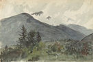 White Mountains from Fernald's Hill, 1860 by Charles de Wolf Brownell