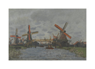 Windmills near Zaandam, 1871 by Claude Monet