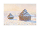 Wheatstacks: Snow Effect, Morning, 1891 by Claude Monet