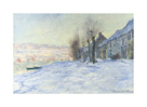 Lavacourt Under Snow by Claude Monet