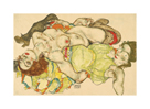 Two Girls, Lying Entwined, 1915 by Egon Schiele