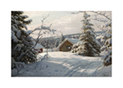 Sunlit Winter Landscape by Peder Mork Monsted