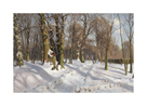 Snowy Forest Road in Sunlight by Peder Mork Monsted