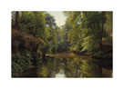 Wooded River Landscape by Peder Mork Monsted