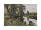 Summer Landscape with River Floodplain by Peder Mork Monsted