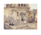 Campo San Trovaso, Venice by Sir William Russell Flint