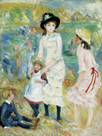 Children on the Seashore, Guernsey, c1883 by Pierre Auguste Renoir