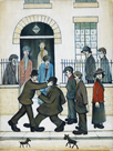 A Fight, c1935 by L.S. Lowry