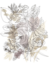 Bouquet Burst I - Neutral by Katrien Soeffers