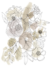 Bouquet Burst II - Neutral by Katrien Soeffers
