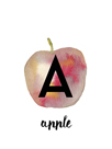 Alphabet Apple by Kristine Hegre