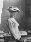 Woman Wearing an Elegant Spiral-shaped Hat, 1956 by The Chelsea Collection