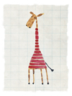Giraffe in Red by Lisa Stickley