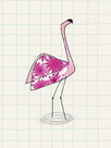 Fuchsia Flamingo by Lisa Stickley