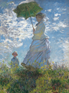 Woman with a Parasol - Focus by Claude Monet