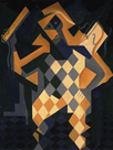 Harlequin With Violin by Juan Gris