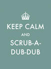 Keep Calm - Scrub by The Vintage Collection