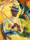 Boater Hat with Parasol by Boscoe Holder