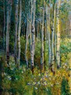 Aspens in Spring by Patrick