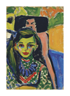 Fränzi in front of a Carved Chair, 1910 by Ernst Ludwig Kirchner
