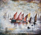 Sailing Boats, 1930 by L.S. Lowry
