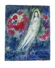 The Bride With Flowers by Marc Chagall
