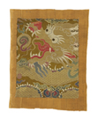Tibetan Fragment, with Dragon by Oriental School